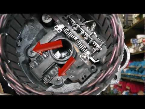 Mitsubishi alternator repair / brush change. Fits Pajero, Kia,Pegeot and many more.