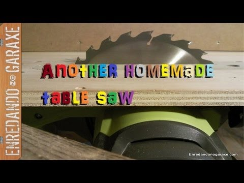 sierra casera - Fabricando otra sierra de mesa casera con la sierra circular. Por fin me deshago de la sierra que hiciera con la ingletadora y me aparece otro problema al in...