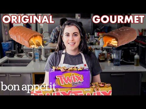 Pastry Chef Attempts to Make Gourmet Twix | Gourmet Makes | Bon Appétit