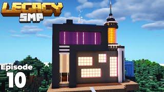 LegacySMP : Episode 10 : the Futuristic - Cyberpunk flower wool Farm in Minecraft 1.15!