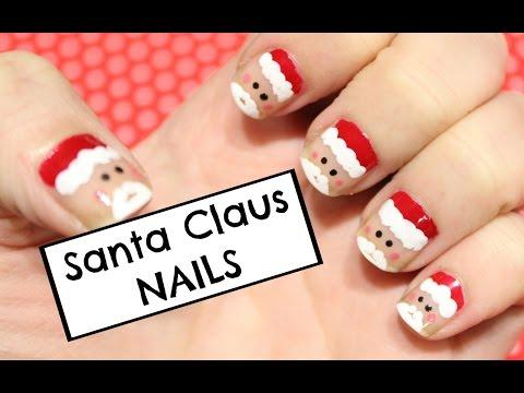 SANTA CLAUS NAILS ❤ CUTE & EASY!