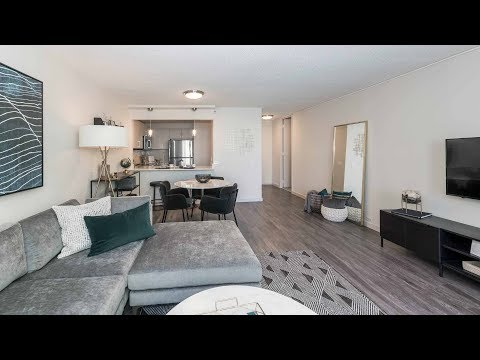 A spacious 1-bedroom, 1 ½ bath at the luxurious North Harbor apartments