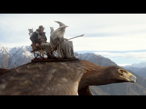 Sir Peter Jackson, Elijah Wood and Sylvester McCoy star in Air New Zealand's The Most Epic Safety Video Ever Made video