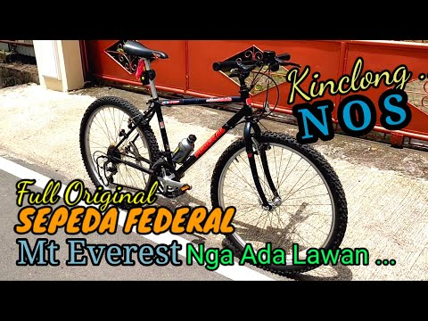 Sepeda Federal Mt Everest Full Original, Super Kinclong, Like New, Mulus | Nga Ada Lawan