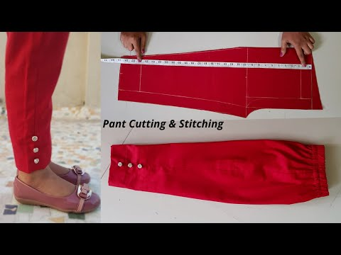 Kids Pant/Trouser cutting and stitching/Pant cutting for girls/pant trouser designs