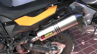 5. BMW F800GS Exhausts (Stock, None, Akrapovic)