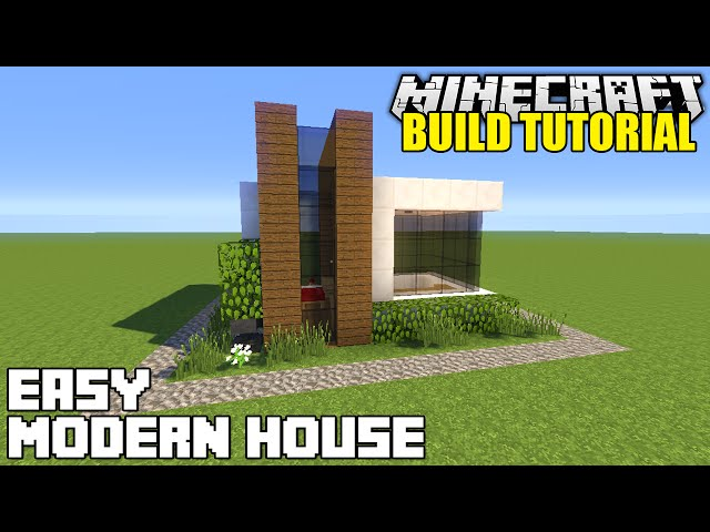 Minecraft how to build a small modern house tutorial easy for Modern house music