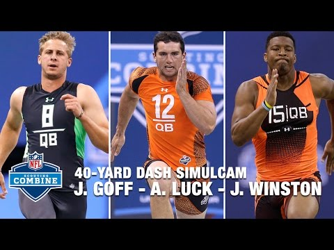 Video: Jared Goff vs. Andrew Luck vs. Jameis Winston | 40-Yard Dash Simulcam