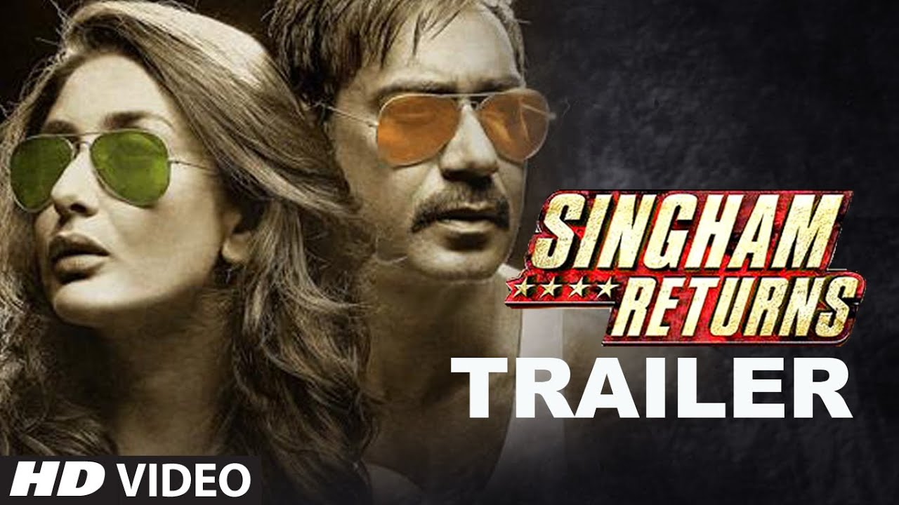 Singham Returns Official Trailer – Ajay Devgan & Kareena Kapoor
