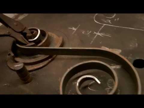 Blacksmith running the torsionator