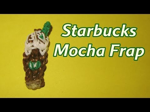 Rainbow Loom (EASY): MOCHA FRAP (Starbucks): How To Design (DIY Mommy)