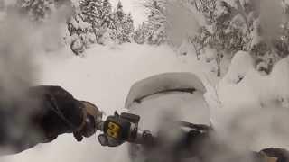 10. Ski-Doo Tundra Xtreme in 2 feet of powder!