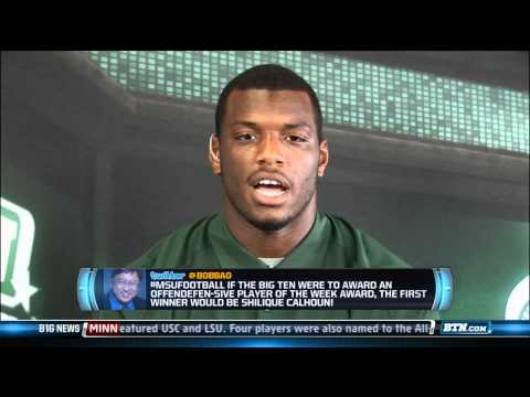 Shilique Calhoun Interview 9/10/2013 video.