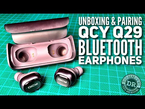 Dodgereviews - Unboxing and pairing QCY Q29 Wireless Bluetooth 4.1 Dual Earphones