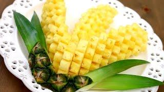 Video Art In Pineapple Garnish | Fruit Carving | Pineapple Food Art | Party Garnishing MP3, 3GP, MP4, WEBM, AVI, FLV November 2018
