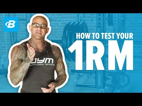 How To Test Your 1 Rep Max | Jim Stoppani, PhD