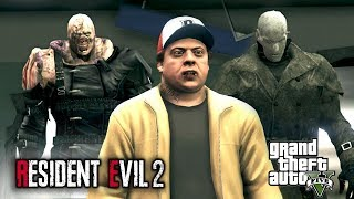 Mr. X vs. Nemesis Resident Evil 2 Remake - (GTA 5 Cinematic)