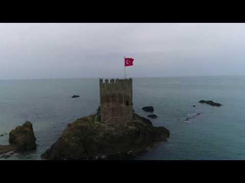 """""""Kaçkar yolu"""" projesi kapsamında Pazar'ın havadan görüntüleri"""