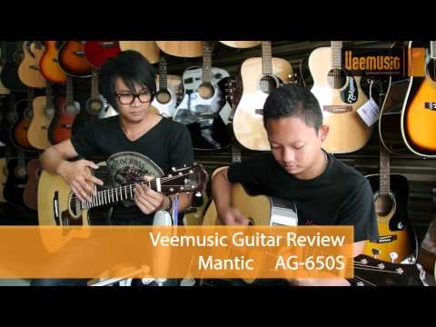Đàn Guitar Acoustic Mantic AG650SC
