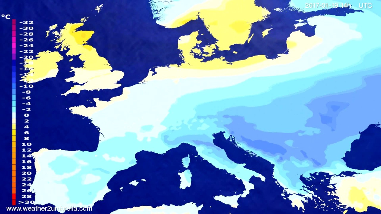 Temperature forecast Europe 2017-01-15