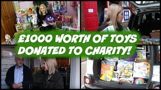 £1000 Worth of Toys Donated to Charity at Christmas