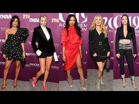 Footwear News Achievement Awards 2019 Red Carpet Arrivals видео