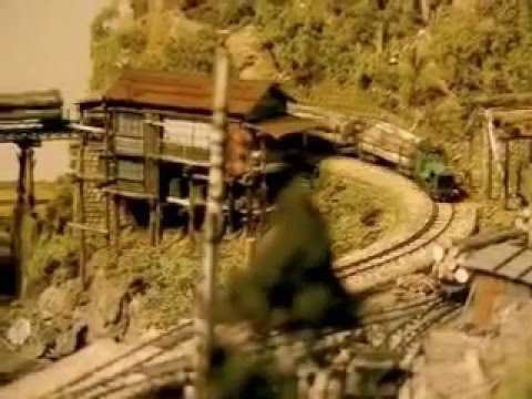Japanese Model Railroad 1:87 HO scale forest railway model