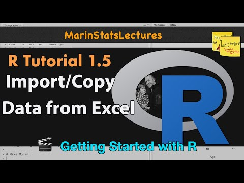 Importing - Learn how to import data or copy data from excel (or other spreadsheets) into R using both comma-separated values and tab-delimited text file. You will learn...