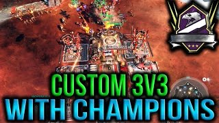 3v3 custom on ashes with champion ranked friends! * * Subscribe for new secret hidden halo wars 2 tips HW glitches easter eggs rush strategy strat 3v3 2v2 1v...
