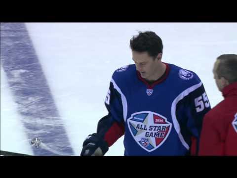 KHL All Star: Бросок на силу / Hardest shot (видео)