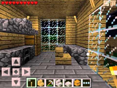 Let's play Minecraft Pocket Edition #8 - Обустраиваем дом #1