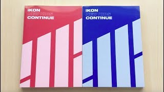 ♡Unboxing iKON 아이콘 1st Mini Album New Kids: Continue 뉴키즈 컨티뉴 (Red & Blue Ver.)♡