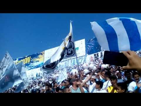 Recibimiento de alianza contra águila - La Ultra Blanca y Barra Brava 96 - Alianza