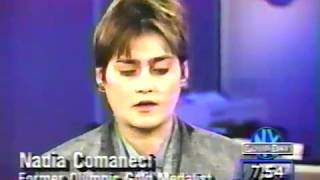 Nadia Comaneci appears on the morning show, Good Day NY.