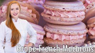 Sparkling Wine Grape Macarons by Tatyana's Everyday Food