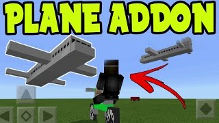 MCPE PLANE ADDON! WORKING AIRPLANE ADDON and BEHAVIOR PACK! Vechicle Addon Minecraft Pocket Edition