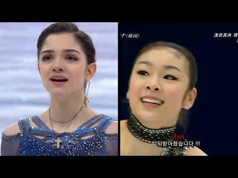 Evgenia Medvedeva Team Event 2018 SP - Queen Yuna 2010 SP - Figure Skating ISU (видео)