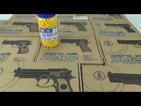 Cамый мощный игрушечный пневматический пистолет из серии ZM (видео)