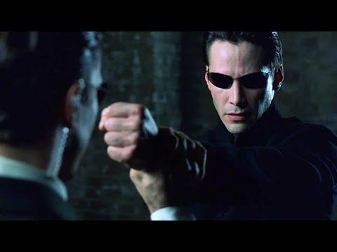 Neo vs Agents | The Matrix Reloaded [Open Matte]