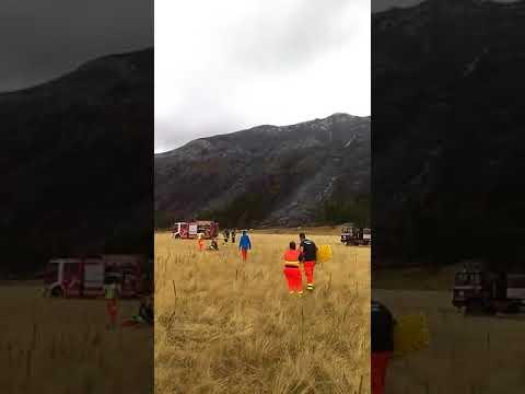 Campo Imperatore, elicottero perde il controllo durante atterraggio a Fonte Vetica VIDEO/FOTO