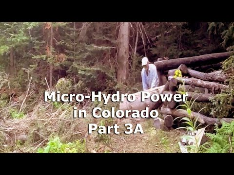 Micro Hydro Electric Power System in Colorado Part 3A