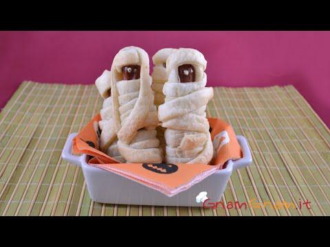 wurstel mummia per halloween - la videoricetta