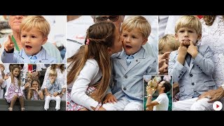 Roger Federer's two sets of twins steal show at Wimbledon with cheeky antics – but he wouldn't have it any other way Roger...