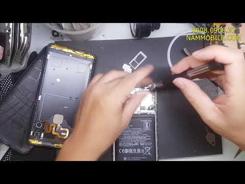 Thay pin Xiaomi Note 6 Pro zin chính hãng giá rẻ lấy liền , phù pin bung nắp lưng