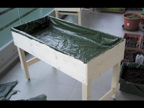 Hochbeet Tisch selber bauen - Schritt für Schritt - Mein Balkon Garten