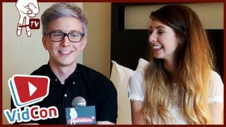 BIGGEST FLIRT? Tyler Oakley, PointlessBlog and Zoella exclusive VidCon interview!