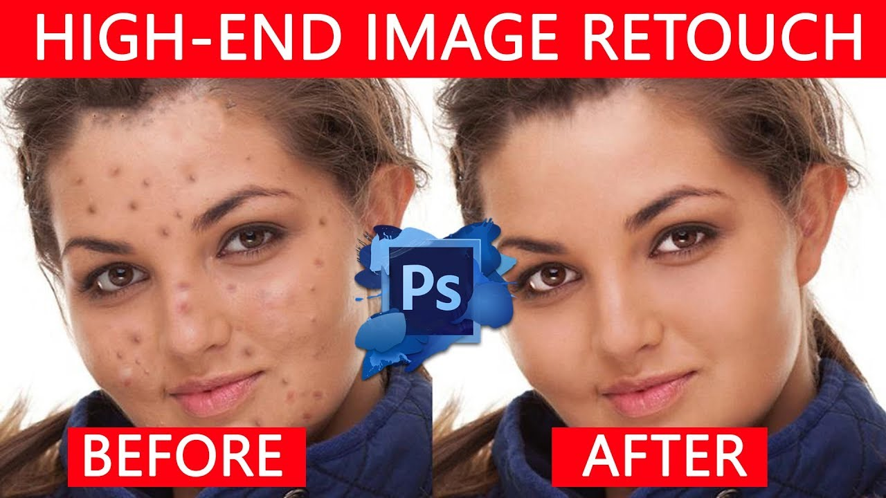 photo retouching tutorial high end skin