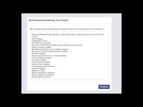 Facebook Censors Anti-AlQaeda Posts