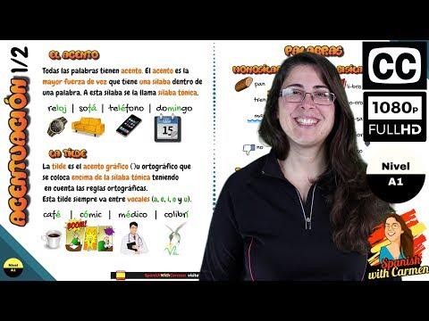 Ortografía: acentuación en español. Reglas ortográficas