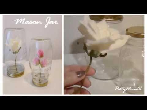 riciclo creativo: fiori in barattolo